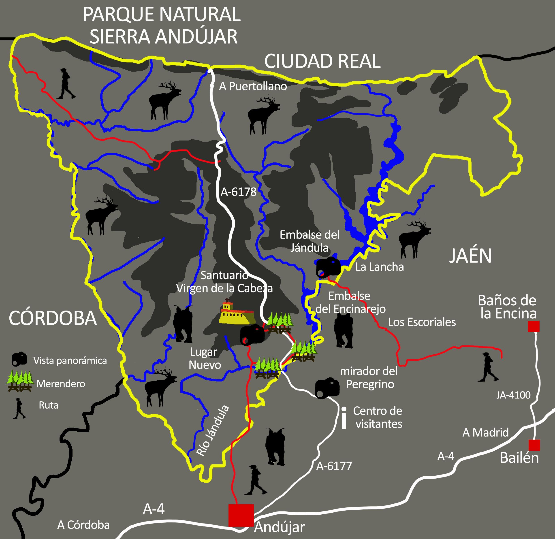 Resultado de imagen de senderos parque natural sierra de andujar