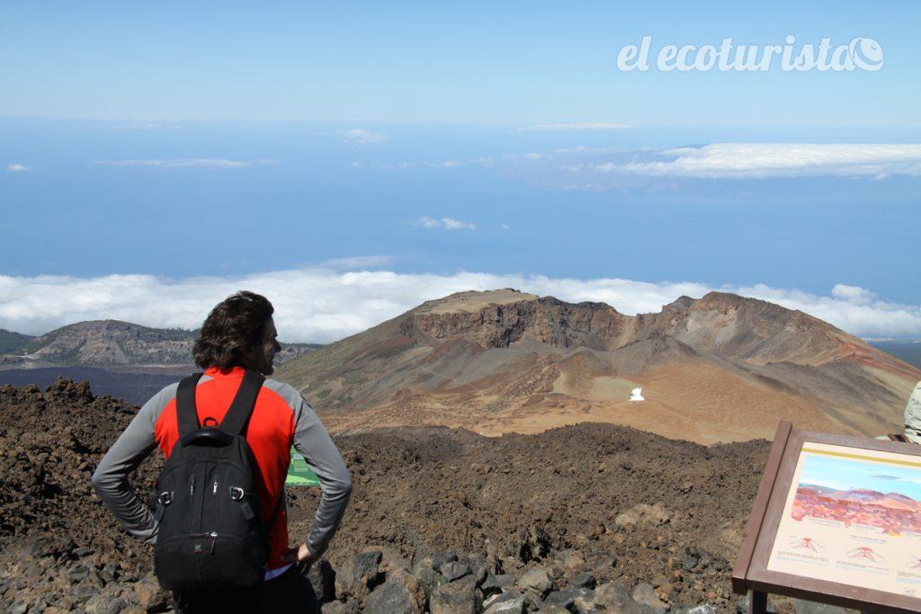 """alt=""""Cráter de Pico Viejo desde el Teide"""""""