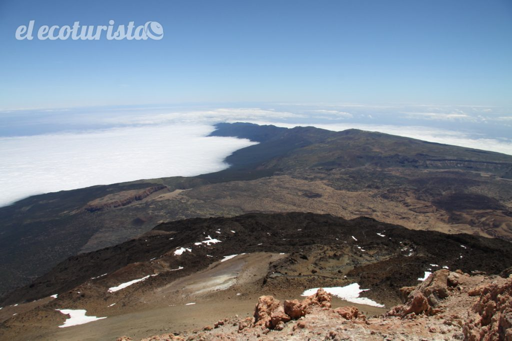 """alt=""""Vista norte desde el cráter del Teide"""""""